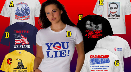 T-shirts du Tea Party